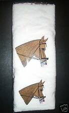 HORSE HEAD  HAND TOWEL & FACE WASHER SET - NEW