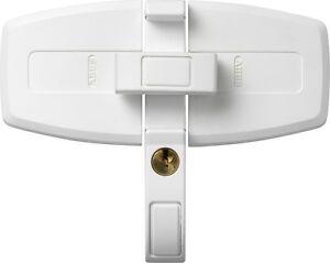 ABUS Fenster - Doppelflügelschloss DFS 95 weiß m. 2 Schlüssel NEU v. Fachhändler