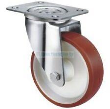 Wheel & Castor - Heavy Duty Urethane 125mm Swivel Plate