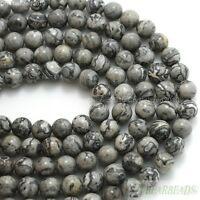 Natural Landscape Jasper Gemstone Round Beads 4mm 6mm 8mm 10mm 12mm 14mm 16''