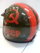 Vintage Vespa Scooter Motorcycle Helmet CCCP New DOT