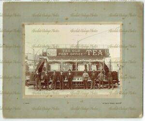 OLD PHOTO BRISTOL TRAMWAYS & CARRIGE COMPANY TRAM & STAFF F SNARY VINTAGE C1900