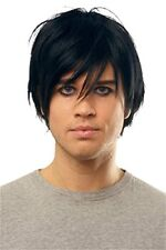 Men's Black Goth Emo Wig One Size Halloween Crossdresser