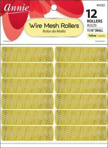"Annie Small Wire Mesh Rollers 12-Pack - 11/16"" Diameter - #1022 *YELLOW*"