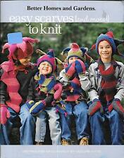 Easy Scarves (and More!) to Knit (Leisure Arts #4675) BH & G 48 pg Booklet Clean