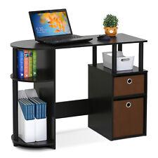 Furinno 15111 JAYA Simplistic Computer Study Desk with Bin Drawers, Espresso