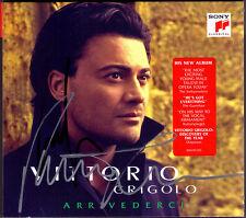 Vittorio Grigolo SIGNED arrivederci DONIZETTI VERDI dalla mattinata DE CURTIS CD