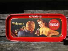 Coca Cola Metal Tray Welcome 1991 Vintage Reproduction Soldier Sign Advertising
