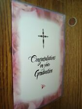 Religious: Congratulations on your Graduation greeting Card w/CROSS* G46