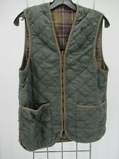 I8773 VTG Barbour Men's Outdoor Plaid Lining Quilted Waistcoat Size 38