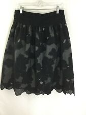 Juliana Collezione Skirt 6 black formal floral lace maxi evening event