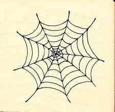 PSX Wood Mounted Rubber Stamp SPIDERS WEB RARE B-947