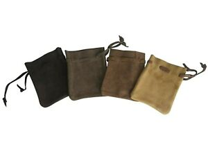 LARP Money Bag Brown Leather Draw String Bag Pouch Dice Reenactment in 4 Shades