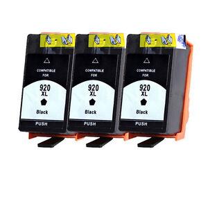 3 cartucce HP AS-920XL Nero  per OFFICEJET  6000 6500 A Officejet 7000 7500 A