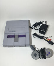 Super Nintendo SNES Console Bundle TESTED 1 Controller, Power and AV Cord