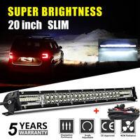 """20"""" LED phare de travail Feux rampe de toit barre de 4x4 offroad light bar+Wring"""