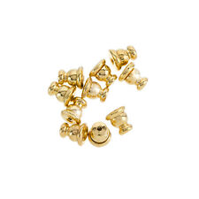 Gold Plated Ear Stud Backs Bullet Clutch Stoppers 5mm - Pack of 10 (H44/4)