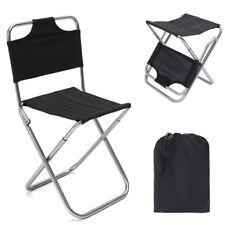 Travel Foldable Camping Backrest Chair Outdoor Fishing Beach Stool Seat w/ Bags