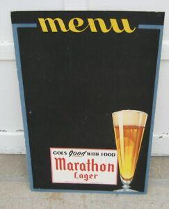 Marathon Brewery Large Cardboard Chalk Board Beer sign - Awesome