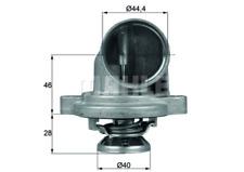 Thermostat TI 23 80 MERCEDES-BENZ VITO Box 108 D 2.3  Coolant