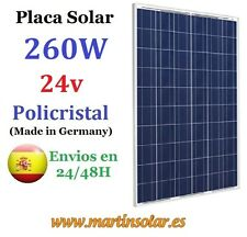 Placa Solar 260w 24v Panel de Fabricacion Alemana Munchen Solar.