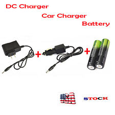 2X5800mAh Li-ion 18650 Rechargeable Battery For Flashlight+AC/Car Charger USA 1