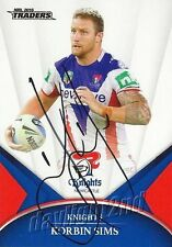 ✺Signed✺ 2016 NEWCASTLE KNIGHTS NRL Card KORBIN SIMS