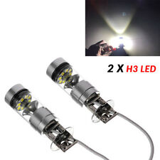 2PCS H3 LED Fog Light Bulb 100W CREE Chips Car Driving Lamp DC12/24V 6000K Handy