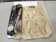 TOR MISSILE ROCKET QUERCETTI TORINO 1960'S VINTAGE BOX & INSTRUCTIONS ROCKETRY