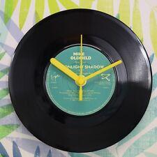 "Mike Oldfield 'Midnight Shadow' Retro Chic 7"" Vinyl Record Wall Clock"