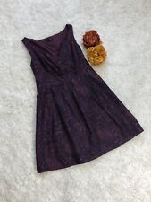 Land's End Purple Paisley Print Mini Dress Size 4