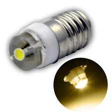 1pc 0.5W E10 LED Flashlight Lamp 3v D/C/AA MES Lens Screw in 2 Cell Torch Bulb
