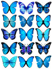 PRECUT EDIBLE WAFER BUTTERFLIES CAKE DECORATION, VARIOUS CHOICE OF COLOURS/SIZES