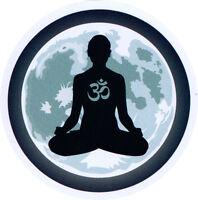 Moon Meditation Design with Om Symbol - Small Bumper Sticker / Decal