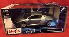 1:24 1/24 Diecast Audi R8 Metallic Blue Model Car Maisto 17cm
