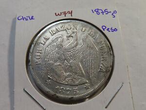 W74 Chile 1875-So Peso