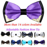 Adjustable Men Formal Wedding Bowtie Novelty Tuxedo Necktie Fashion Bow Mini Tie