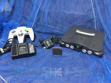Nintendo N64 full console, 1 controllers, power supply and RF leads, etc.