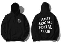DS SS20 Anti Social Social Club ASSC White logo Mind Games Black Hoodie in hand