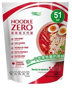 Noodle Zero Premium Shirataki Konjac Noodle,Keto Friendly,Low Calorie -Tomato
