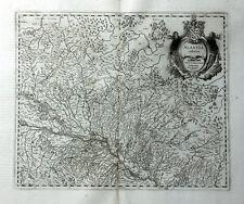 FRANKREICH ELSASS STRASSBURG JANSSONIUS KUPFERSTICHKARTE FIGURENKARTUSCHE 1658