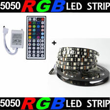 5M/16.4ft RGB SMD 5050 Black Board 300 LED Rope Strip Lights DC12V+44 Key Remote