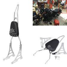 Chrome Tail Sissy Bar Pad Backrest for Harley Sportster Iron Nightster 883 1200