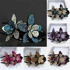 Women Hair Claw Hair Crystal Rhinestone Hairclip Jewelry Flower  Hairpin Fashion