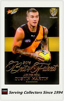 2017 AFL Footy Stars Trading Card Best & Fairest Card Full Set (18 cards)