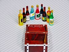 RC 1/10 Scale Accessories WOOD CASE ALCOHOL, WINE, SPIRITS Set