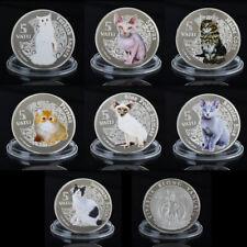 WR Moneda de plata de Vanuatu 2015 5 Vatu Conjunto de gato conmemorativo