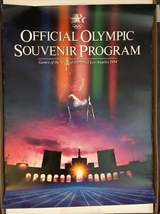 Los Angeles Olympic Games 1984, poster, Official Olympic Souvenir Program
