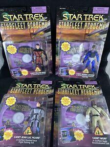 Playmates 1996 Star Trek Starfleet Academy Action Figure - Complete Set Of 4