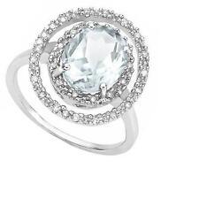 Aquamarine White Gold 10 Carat Fine Rings